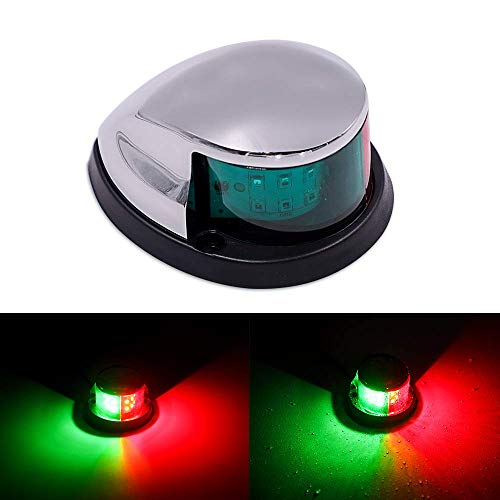 Obcursco Boat Navigation Light, Marine LED Boat Light LED Navigation Lights Deck Mount, New Marine Sailing Lights for Bow Side,Port, Starboard,Ideal for Pontoons, Yacht and Skeeter. DC 12V