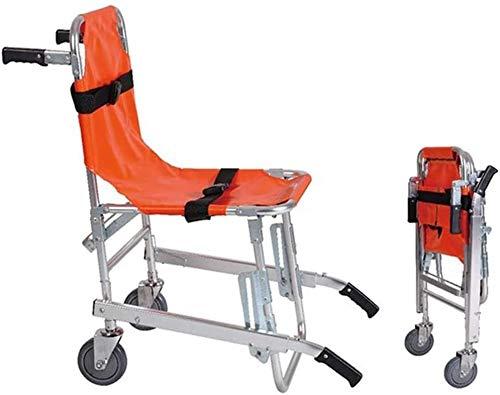 PoJu Elevador médico de Ambulancia Ligero de Aluminio de Silla de Escalera EMS con Hebillas de liberación rápid