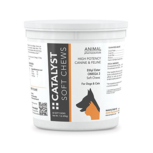 Catalyst Omega 3 Fish Oil Soft Chews for Dogs & Cats - Skin and Coat Supplement - 60 Count - Cheese Flavor