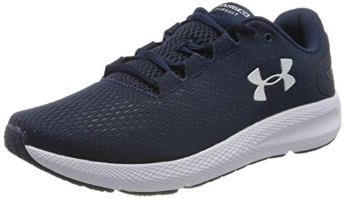 Under Armour UA Charged Pursuit 2, Calzado De Hombre, Zapatillas para Correr, Azul (Academy/White/White (401) 401), 42 EU