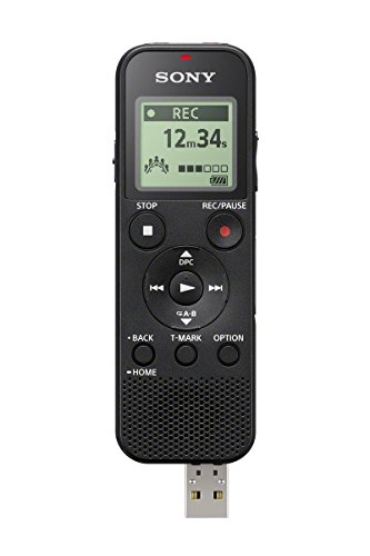 Sony ICDPX370 Mono Digital Voice Recorder with Built-in USB - Black (Renewed)