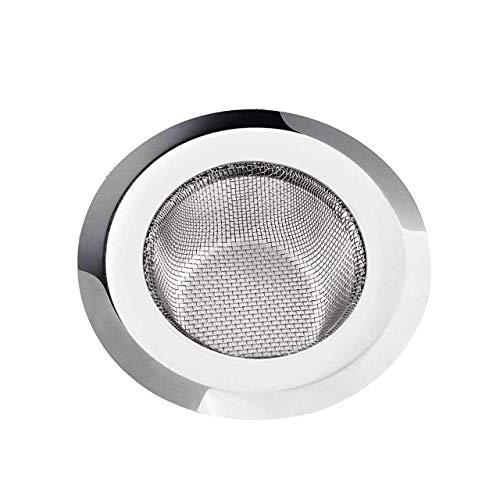 Inditradition Stainless Steel Strainer Kitchen Drain Basin Basket Filter Stopper Drainer Sink Jali, 10.5 cm Full Diameter (Silver)