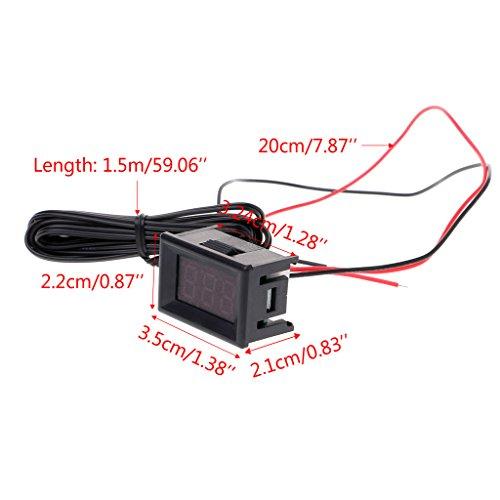 NIANNIAN Thermometer LED Digitales Thermometer Autosonde Kühlschrank Gefrierschrank Temperatur -40~120C Grad DIY