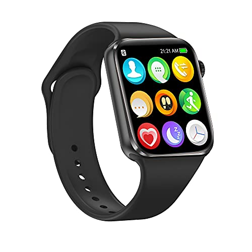 Smart Watch for Android iOS Phones Compatible iPhone Samsung, Nanphn 1.75'' Touchscreen Sport Smartwatch Fitness Activity Tracker Watch with Call/SMS/Heart Rate/Pedometer for Men Women Kids (Black)
