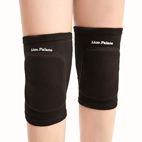 Lion Palace Best Soft Knee Pads for Dancers—Knee Pads Knee Guards for Ath letic Use Volleyball Knee Pads Dance Knee Pads Yoga Knee Pads Football Pad Tennis Skating Workout Climbing (Full Black, M)
