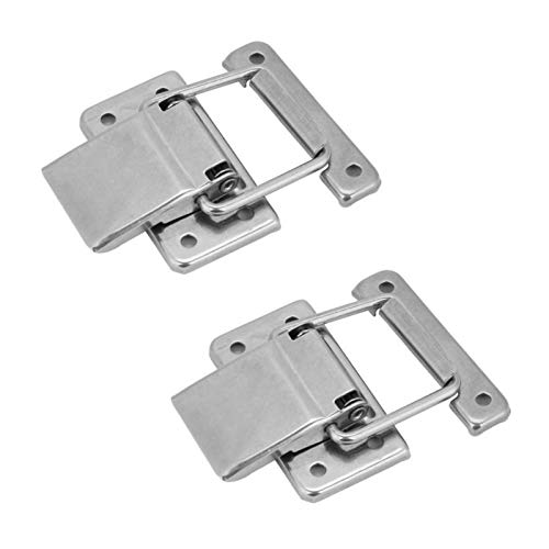2Pcs Stainless Steel Latch Hasp Lock for Cabinet Case Spring Loaded Latch Catch Toggle hasp wooden box lock furniture hardware Gaodpz