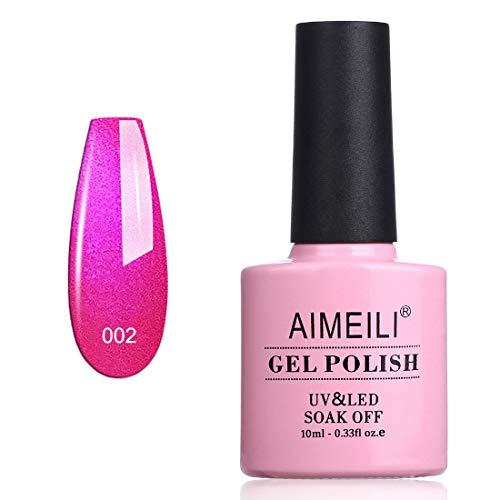 AIMEILI UV LED Gellack Gel Nagellack Schimmer rot Gel Polish - Tutti Fruiti (002) 10ml