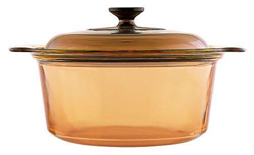 VISIONS Glas-Keramik Kochtopf 5 Liter, Braun, 31 cm