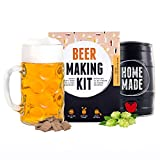 Gifts for Men - Beer Making Kit - Brew Oktoberfest Style Beer in A 5-Litre Keg - Ready in 7 Days - Perfect Birthday Gift - All Included - by Brewbarrel/Braufässchen
