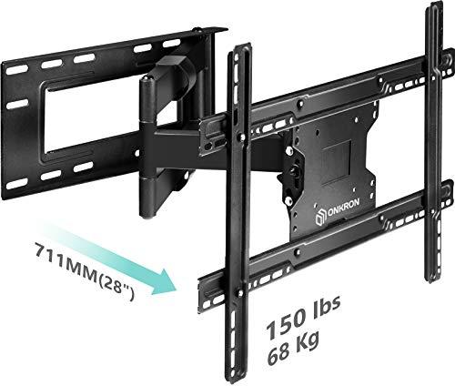 """ONKRON TV Wandhalterung für 40\""""-60\"""" Zoll LCD LED OLED 4K Ultra HD TV Schwenkbar Neigbar Fernseherhalterung VESA 100x100 bis 600x400 mm M7L Schwarz"""