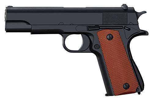 Softair Pistole Voll Metall Rayline RV11 (Manuell Federdruck), Nachbau im Maßstab 1:1, Länge: 18,6cm, Gewicht: 320g, Kaliber: 6mm, Farbe: Schwarz - (unter 0,5 Joule - ab 14 Jahre)