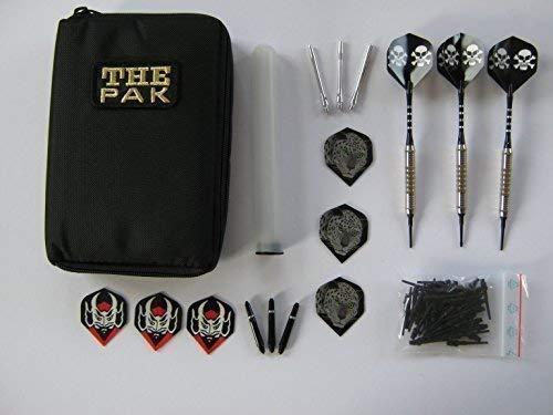 Dart-Tasche mit 3 Chrom-Dart-Pfeilen und Zubehör (17