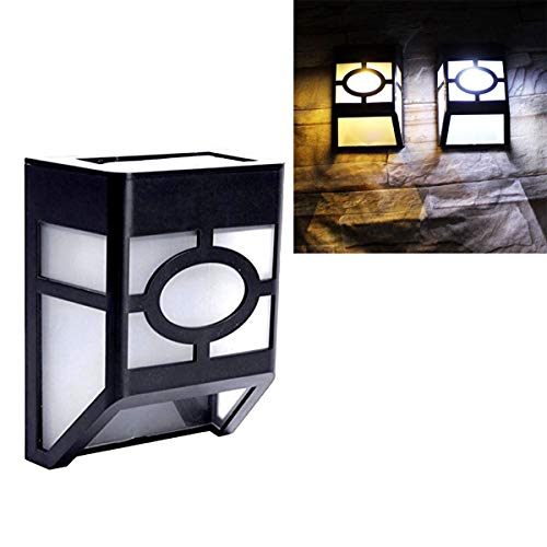GuoQiang Zhou Bombilla LED Solar Noche Blanca de la Pared de luz de Seguridad Exterior Decoración lámpara de luz Solar Impermeable Recargable