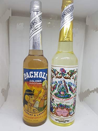 1 Set 2 in 1 Agua de Florida 270 ml y Agua de Pacholi original de Peru. Agua de Florida tiene un efecto refrescante y el pacholi abre las puertas para estar subconsciente
