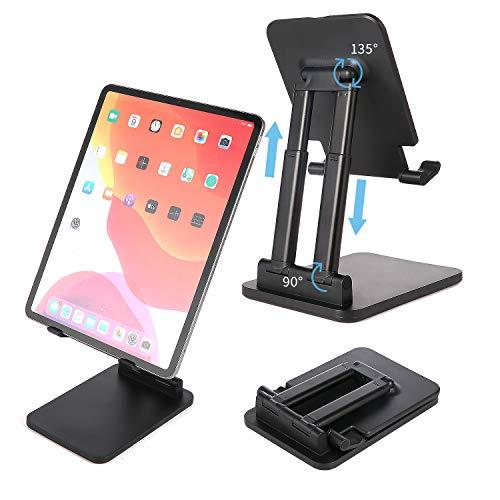 KLAS REMO Supporto Tablet, Supporto Regolabile Supporto per Tablet Compatibile con iPad 2020 PRO 10.5/9.7/12.9, iPad Mini 2 3 4, iPad Air, Air 2, Samsung Tab, Altri Tablet e Kindle - Nero