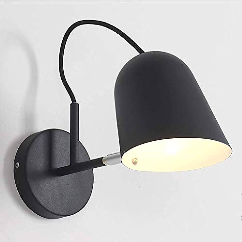 Oevina Mode Einstellbare Wandleuchte aus Metall, E27 Moderne minimalistische Schwenkarm Wandleuchte dekorative Wohnzimmer Garage Küche Wandleuchte (Farbe   Schwarz, gre   30x18cm)
