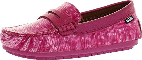 Venettini Girls 55-Savor Designer Fashion Loafers,Fuchsia Reptile,32