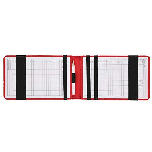 Il libretto segnapunti del titolare del segnapunti da golf include una matita di legno, come regalo, per il golfista