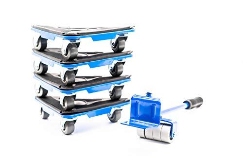RaKao Möbelroller - Möbelheber Stabile Transporthilfe zum sicheren Transportieren von Möbeln - Waschmaschinen - Belastbarkeit 150kg FÜR ALLE 4 Rollen, Umzugshilfe - Transportroller