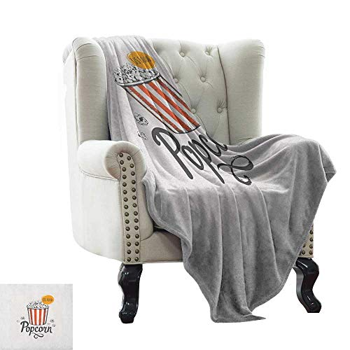 LsWOW Baby Blanket Movie Theater,Sketch Design Cinema Snack US Fast Food Pop...