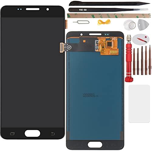 YHX-OU Ecran LCD de Remplacement Retina Display Complet pour Samsung Galaxy A5 (2016) A510F avec Outils à Écran Tactile (Noir+Frame)