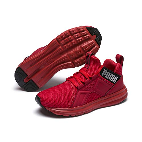 PUMA Enzo Weave Kinder Laufschuhe High Risk Red-Puma Black UK 3.5_Youth_FR 36