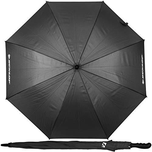 Dunlop XXL Paar Regenschirm 130cm mit Farbwahl Partnerschirm für 2 Personen Stockschirm Familienschirm Doppelregenschirm (Grau)