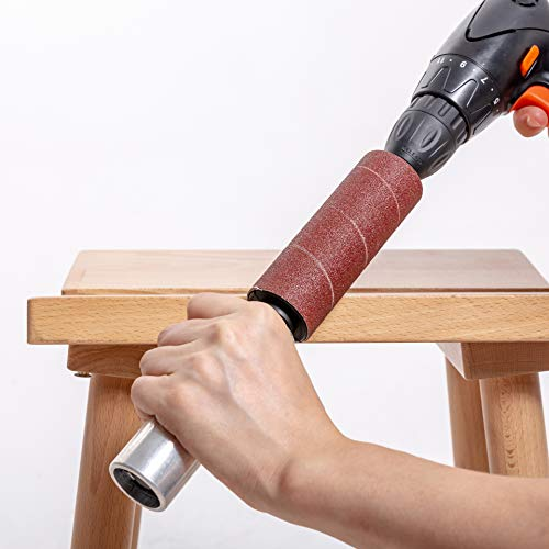 """Portable Spindle Sander Hand-Held Rubber Sanding Drum for Drill 4-1/2"""" x 1-1/2"""" and 4-1/2"""" x 1"""" (hand drum sander)"""