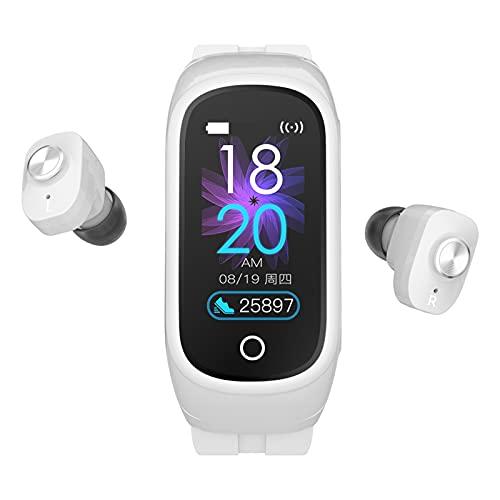 QFSLR Smartwatch, Pulsera De Actividad Física con Llamada Bluetooth Monitor De Frecuencia Cardíaca Monitor De Presión Arterial Seguimiento del Sueño Podómetro Monitores De Actividad,Blanco