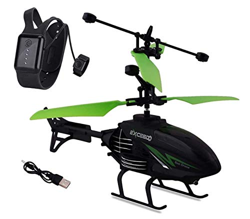 Selliber Helicopter with Radio Remote Control and Hand Sensor Charging Helicopter 2 in 1 Toys with 3D Light Toys for Boys Kids