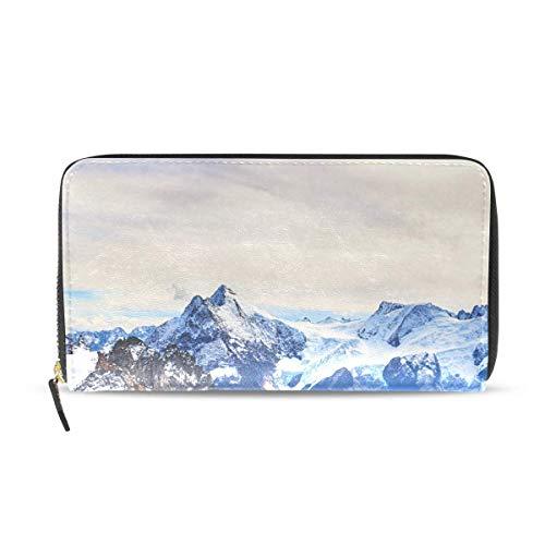 Damen Geldbörsen Tabby Katze und Weihnachtsbaum Leder Passport Wallet Portemonnaie Zip Handtaschen