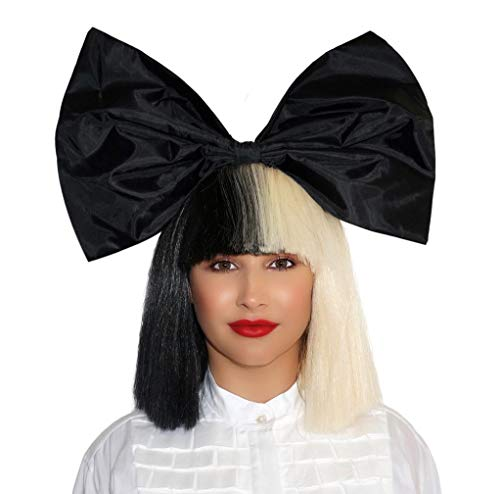 Officially Licensed Sia Costume Cosplay Wig Half Blonde Black Size Adjustable