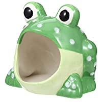 POPETPOP ハムスター ハウス 陶器 小動物用 おへや ベッド 小型ペット用 睡眠ベッド 巣 寝場所 寝具