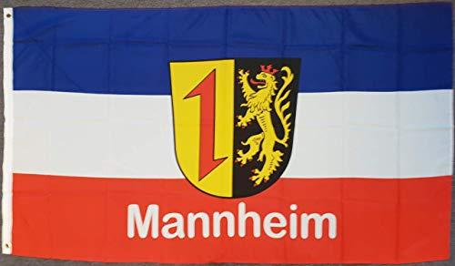 flaggenmeer® Flagge Mannheim 80 g/m² ca. 90 x 150 cm