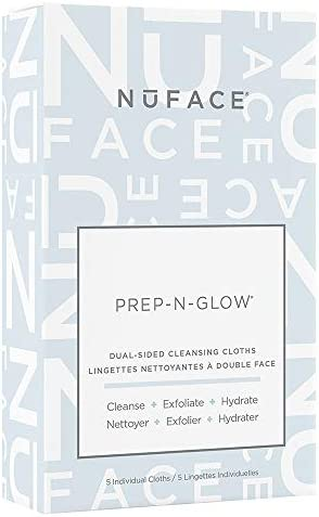 NuFACE Prep N Glow Cloths Exfoliating Hydrating Facial Cleansing Wipes Enriched with Hyaluronic product image