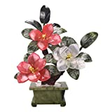 Plantas Artificiales Artificial Bonsai Tree Peony Bonsai Planta artificial Decoración de la planta de interior Plantas Jade Bonsai Chinese Porch Decoration Decoración para el hogar Regalo Bonsái Artif