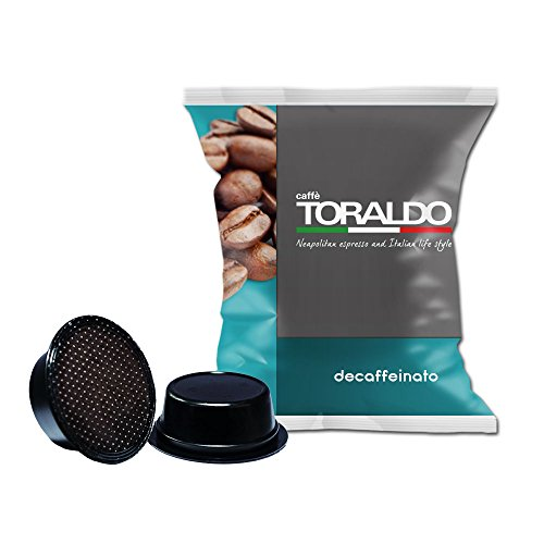 Caffè Toraldo Decaffeinato Capsules Compatibili con 'A Modo Mio' 100 Capsules