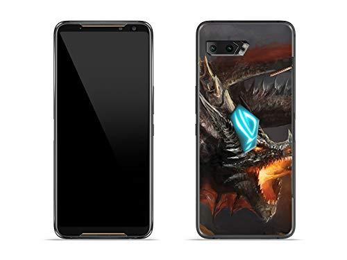 etuo Hülle für Asus ROG Phone 2 - Hülle Fantastic Hülle - Böser Drache Handyhülle Schutzhülle Etui Hülle Cover Tasche für Handy