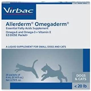 OmegaDerm EZ Dose Packets, Cats and Dogs <20 lbs, 28 Packets of 4 mL