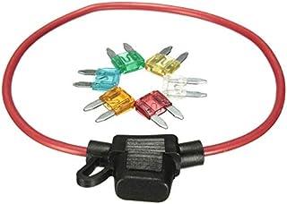 5 pezzi In linea Portafusibili Lama Auto Inline Portafusibili Impermeabile A prova di spruzzi Dimensioni ridotte 12V 30A
