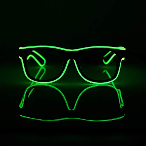 YHLVE Gafas LED, EL Wire Fashion Neon Gafas Sol luz