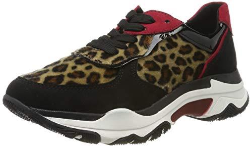 MARCO TOZZI Damen 2-2-23746-33 Sneaker, Schwarz (Black/Leo 005), 38 EU
