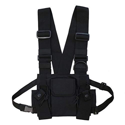 Naiyafly Men Women Chest Rig Bag Multi-pocket Vest Hip Hop Streetwear Functional Tactical Harness Chest Rig Pack
