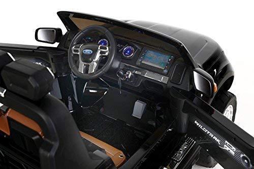 RC Auto kaufen Kinderauto Bild 2: RIRICAR Ford Ranger Wildtrak 4X4 LCD Luxury, Elektro Kinderfahrzeug, LCD-Bildschirm, lackiert schwarz - 2.4Ghz, 2 x 12V, 4 X Motor, Fernbedienung, 2-Sitze in Leder, Soft Eva Räder, Bluetooth*