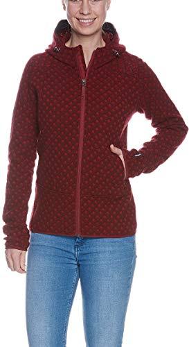 Tatonka Kolma Womens Hooded Jacket, 36/36 Damen, Cherry red
