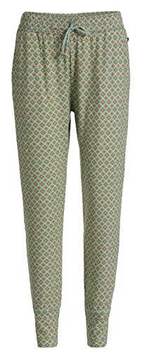 PiP Studio Damen Bobien Jambo Schlafhose Pyjamahose Homewear Strandhose Gemustert grün, Grösse:S - 36, Farbe:grün