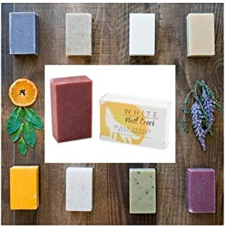 White Wolf Creek All Natural Organic Soap Skin Bar NEW 4 PACK.Blood Orange Bergamot, Citrus Lavender, Black Tea Tree, Peppermint Leaf