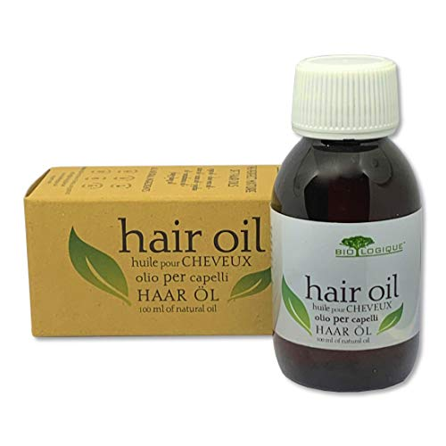 Hair Oil - THE PERFECT MIXTURE OF 7 HAIR OILS - Natural Remedy for Hair Growth and Strength, 100% Natural Treatment for All Hair Types, 100 ml/3.4 oz.