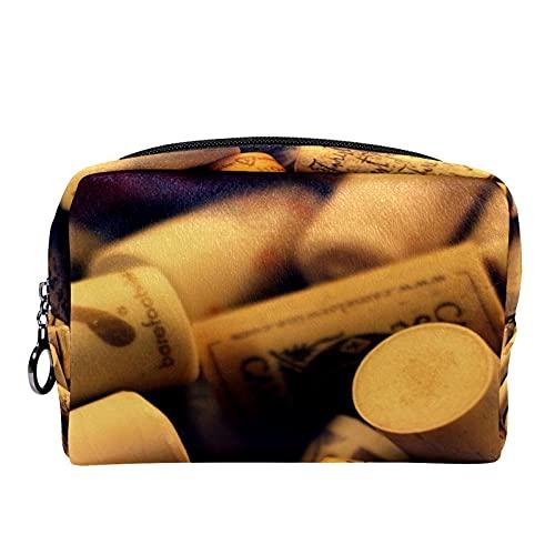 Trousse de Maquillage Sacs à cosmétiques de Voyage Portables, Bouchons de vin Uniques