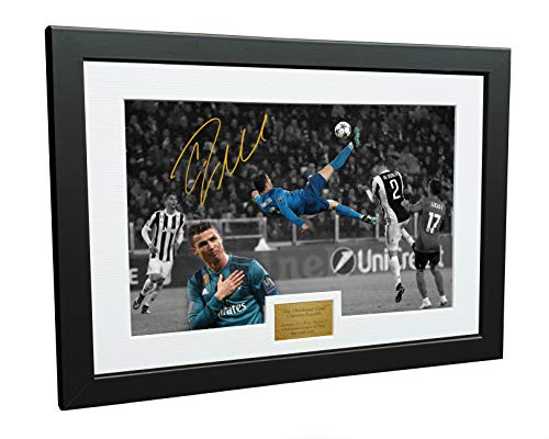 Kitbags & Lockers Cristiano Ronaldo 12x8 A4 Signed The Overhead Goal -Juventus 0 vs Real Madrid 3' - Autographed Photo Photograph Picture Frame Gift